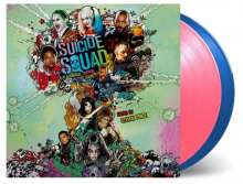 Filmmusik: Suicide Squad (180g) (Limited Numbered Edition) (Pink & Blue Vinyl), 2 LPs