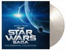 Filmmusik: Music From The Star Wars Saga - The Essential Collection (180g) (Limited Numbered Edition) (Stormtrooper: White & Black Marbled Vinyl), 2 LPs