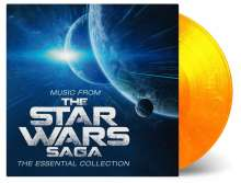 Filmmusik: Music From The Star Wars Saga - The Essential Collection (180g) (Limited Numbered Edition) (Flaming Vinyl), 2 LPs