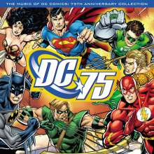 Filmmusik: Music Of DC Comics: 75th Anniversary Collection (180g) (Limited Numbered Edition) (Translucent Blue Vinyl), LP