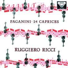 Niccolo Paganini (1782-1840): Capricen op.1 Nr.1-24 für Violine solo (180g), 2 LPs