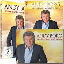 Andy Borg: Erinnerungen an schöne Zeiten (Sammeledition), 1 CD, 1 DVD und 1 Buch