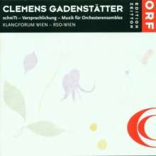 """Clemens Gadenstätter (geb. 1966): """"schniTt"""" für Orchester, CD"""