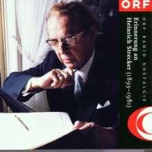 Heinrich Strecker (1893-1981): Werke, CD