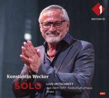 Konstantin Wecker: Solo: Live-Mitschnitt aus dem ORF RadioKulturhaus Wien, 2 CDs