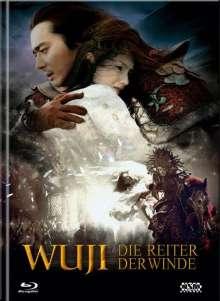 Wu Ji - Die Reiter der Winde (Blu-ray & DVD im Mediabook), 1 Blu-ray Disc und 2 DVDs