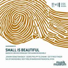 Small is beautiful - Barocke Orchestermusik für Kammerensemble, CD