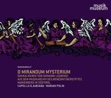 "Giovanni Legrenzi (1626-1690): Geistliche Werke ""O Mirandum Mysterium"", CD"