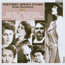 Historic Opera Stars from Germany Vol.1, CD