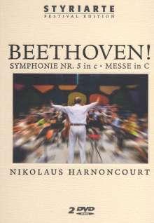 Ludwig van Beethoven (1770-1827): Symphonie Nr.5, 2 DVDs