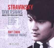 "Igor Strawinsky (1882-1971): Werke für Violine & Klavier ""Diversions"", CD"