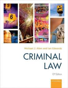 Michael Allen (Former Commissioner at the Criminal Cases Review Commission and Professor of Law at Newcastle Law School): Criminal Law, Buch