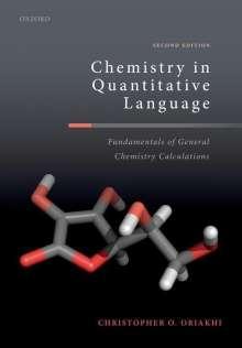 Christopher O. Oriakhi (Senior Materials Scientist, Senior Materials Scientist, NIKE Inc): Chemistry in Quantitative Language, Buch