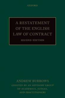 Andrew Burrows: A Restatement of the English Law of Contract, Buch