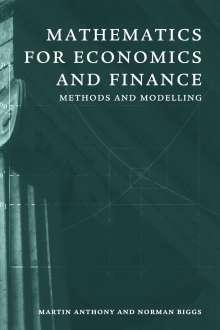 Martin Anthony: Mathematics for Economics and Finance, Buch