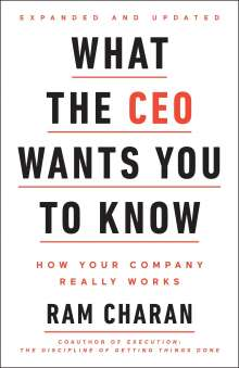 Ram Charan: What the CEO Wants You To Know, Buch