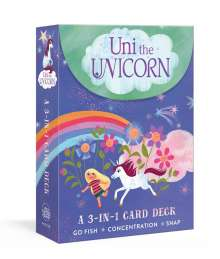 Amy Krouse Rosenthal: Uni the Unicorn: A 3-In-1 Card Deck: Card Games Include Go Fish, Concentration, and Snap, Diverse