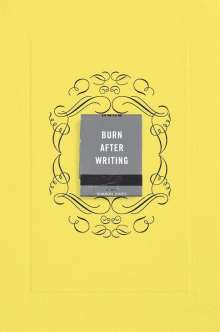 Sharon Jones: Burn After Writing (Yellow), Buch