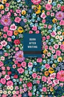 Sharon Jones: Burn After Writing (Floral), Buch