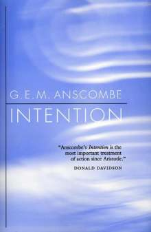 Gertrude E. M. Anscombe: Intention, Buch