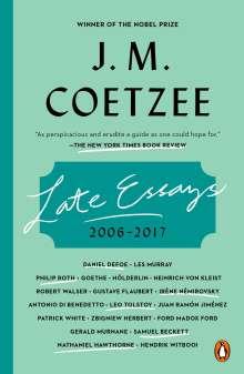 J. M. Coetzee: Late Essays, Buch