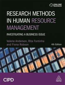 Valerie Anderson: Research Methods in Human Resource Management: Investigating a Business Issue, Buch