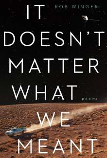 Rob Winger: It Doesn't Matter What We Meant: Poems, Buch
