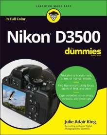 Julie Adair King: Nikon D3500 For Dummies, Buch