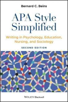 Bernard C. Beins: APA Style Simplified, Buch