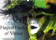 Barbara Stanzl Und Brett Fitzpatrick: Magical Masks of Venice / UK-Version (Wall Calendar 2021 DIN A3 Landscape), Kalender