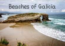 Robert Wood: Beaches of Galicia (Wall Calendar 2021 DIN A3 Landscape), Kalender
