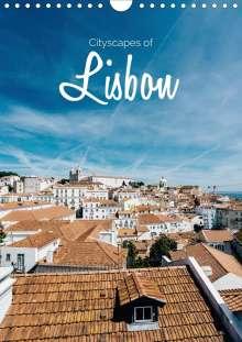 Stefan Becker: Cityscapes of Lisbon (Wall Calendar 2021 DIN A4 Portrait), Kalender