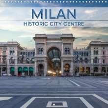 Melanie Viola: MILAN Historic city centre (Wall Calendar 2021 300 &times 300 mm Square), Kalender