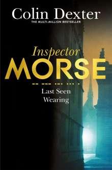 Colin Dexter: Last Seen Wearing, Buch