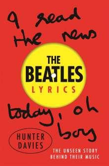 Hunter Davies: The Beatles Lyrics, Buch