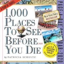 Patricia Schultz: 2020 1,000 Places to See Before You Die Colour Page-A-Day Calendar, Diverse