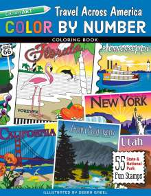 Color by Number Travel Across America Coloring Book, Buch