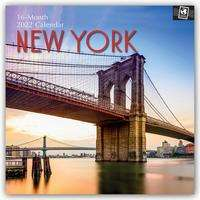 New York City - New York 2022 - 18-Monatskalender mit freier TravelDays-App, Kalender