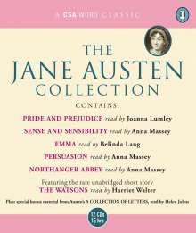 """Jane Austen: The Jane Austen Collection: """"Sense and Sensibility"""", """"Pride and Prejudice"""", """"Emma"""", """"Northanger Abbey"""", """"Persuasion"""" AND """"The Watsons"""" (Unabridged), 12 CDs"""