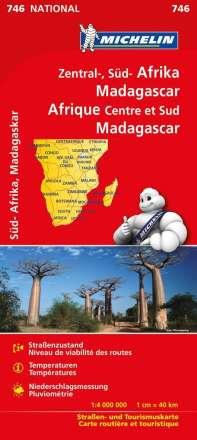 Michelin Nationalkarte Zentral-, Südafrika, Madagaskar 1:4 000 000, Diverse
