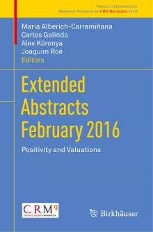 Extended Abstracts February 2016, Buch