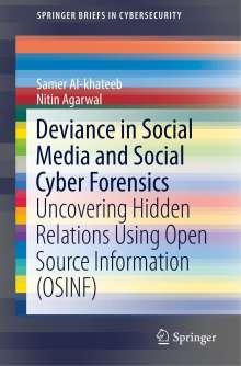 Samer Al-khateeb: Deviance in Social Media and Social Cyber Forensics, Buch