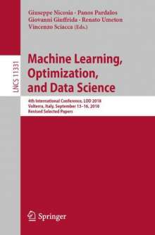 Machine Learning, Optimization, and Data Science, Buch