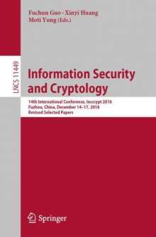 Information Security and Cryptology, Buch