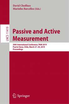 Passive and Active Measurement, Buch