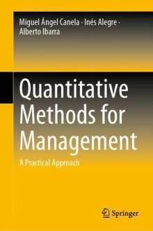 Inés Alegre: Quantitative Methods for Management, Buch