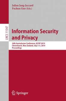 Information Security and Privacy, Buch