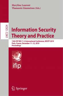 Information Security Theory and Practice, Buch