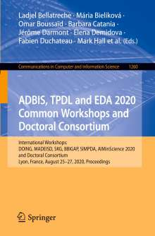 ADBIS, TPDL and EDA 2020 Common Workshops and Doctoral Consortium, Buch