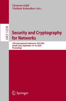 Security and Cryptography for Networks, Buch